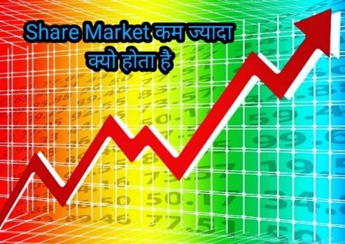 Share Market कम ज्यादा क्यो होता है । why share market up and down