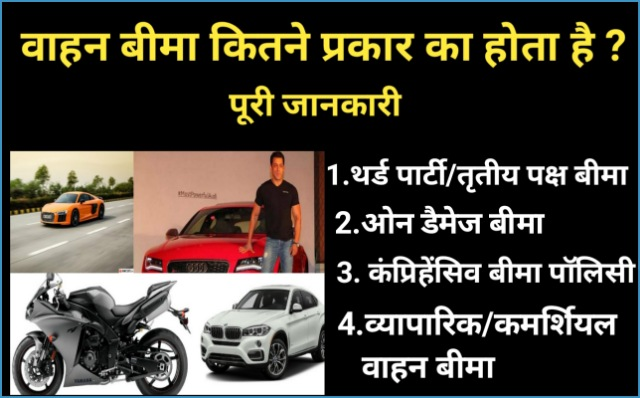 वाहन बीमा के प्रकार